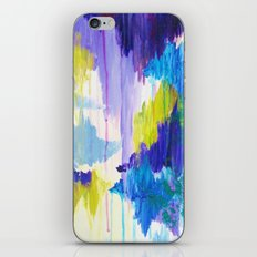 WINTER DREAMING - Jewel Tone Colorful Eggplant Plum Periwinkle Purple Chevron Ikat Abstract Painting iPhone & iPod Skin