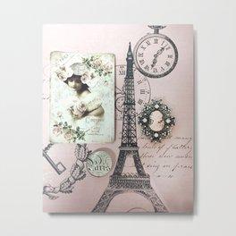 Paris Eiffel Tower French Parisian Decor Metal Print