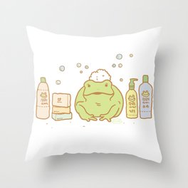 Shampooing Demonstration Throw Pillow