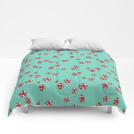 Peppermint Candy in Aqua Comforters