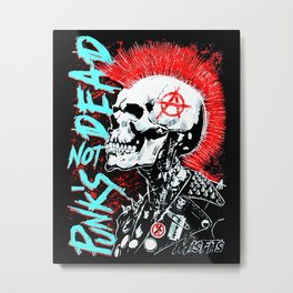 Punks Not Dead Metal Print