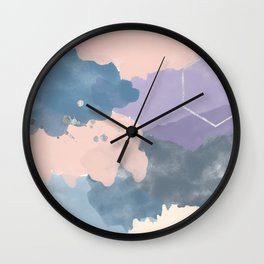 Abstract Pink Purple Blue Wall Clock
