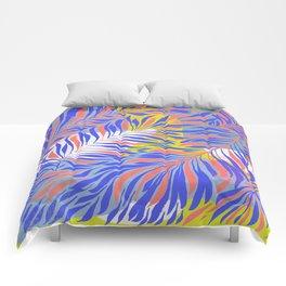 Periwinkle Leaves Comforters