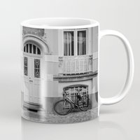 house Mugs featuring House by Laura Arroyo