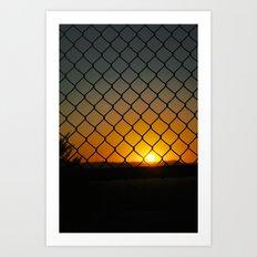 Fence Light Art Print