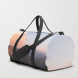 Mountain lake in Germany with Moon - landscape photography Duffle Bag
