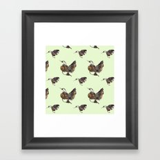 Green Hummingbirds Framed Art Print