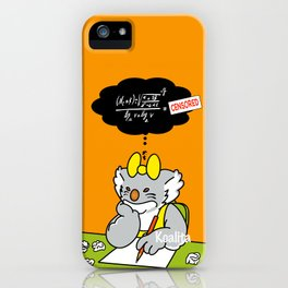 Koalita at school iPhone Case