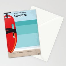 No730 My Baywatch minimal movie poster Stationery Cards