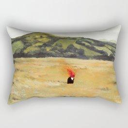 La Nube Roja by David de la Heras Rectangular Pillow