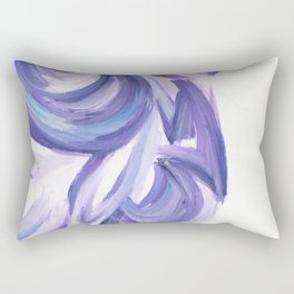 Wind on the City 3 - Abstract painting in modern lavender purple with hints of bright blue Rectangular Pillow
