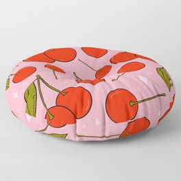 Cherries on Top Floor Pillow