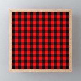 Classic Red and Black Buffalo Check Plaid Tartan Framed Mini Art Print