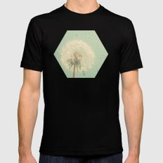 Dandelion Clock SMALL Mens Fitted Tee Black
