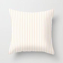 Soft Peach Pinstripe on White Throw Pillow