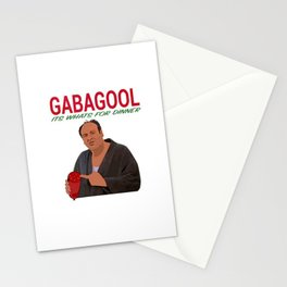Gabagool Stationery Cards