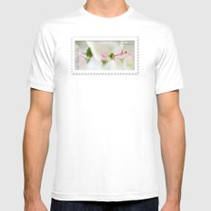 Tiny Trumpet Flower MEDIUM Mens Fitted Tee White
