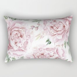 Girly Pastel Pink Roses Garden Rectangular Pillow