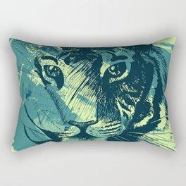 Abstract Grunge Wild Tiger Rectangular Pillow