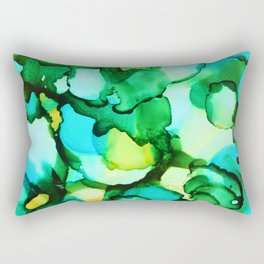 Blue & Green - should be seen Rectangular Pillow
