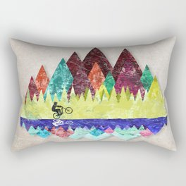 MTB retro Trails Rectangular Pillow