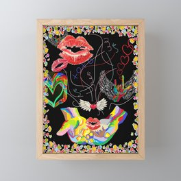 Throwing Kisses and I Love Yous Framed Mini Art Print