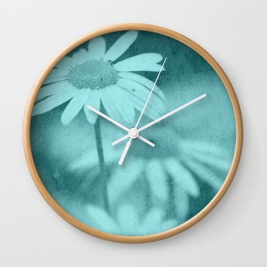 Floral art image Wall Clock