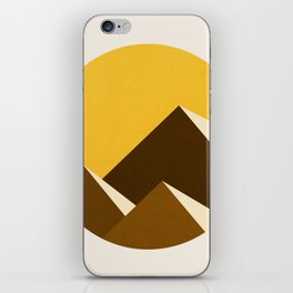 Abstraction_Mountains_YELLOW_001 iPhone Skin