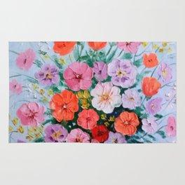 Bouquet of meadow flowers Rug