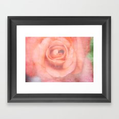 Just Peachy - Just Rosey Framed Art Print
