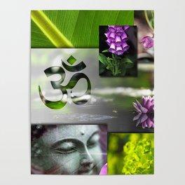 Buddha & Chakra Zen Collage Poster
