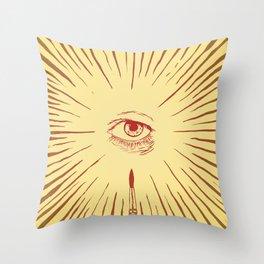 The Man With The Golden Eyeball Throw Pillow