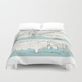 The search of love Duvet Cover