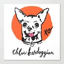 Chloe Kardoggian Illustration with Signature Canvas Print