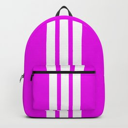 3 White Stripes on Pink Backpack