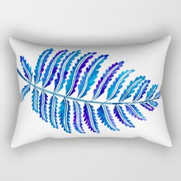 Fern Leaf – Navy Palette Rectangular Pillow