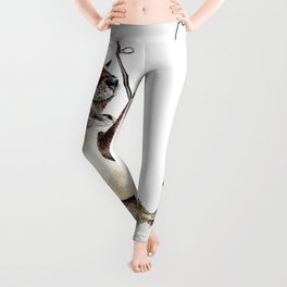 """"""" Natures Fisherman """" fishing river otter with trout Leggings"""
