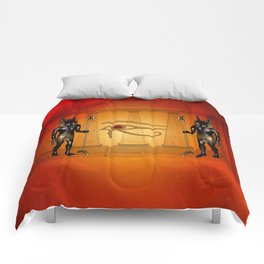 The all seeing eye with anubis Comforters