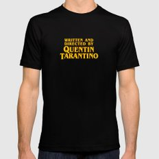 Written and Directed by Quentin Tarantino (yellow variant) Mens Fitted Tee Black LARGE