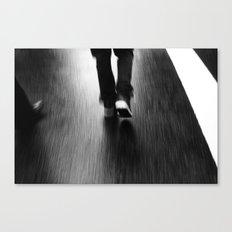 Street Walking Canvas Print