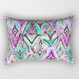 Fringe Ikat Tribal Rectangular Pillow