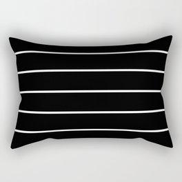 Black White Pinstripes Minimalist Rectangular Pillow