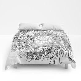 Cat dragon Comforters