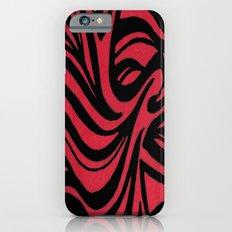 Red & Black Waves iPhone 6s Slim Case