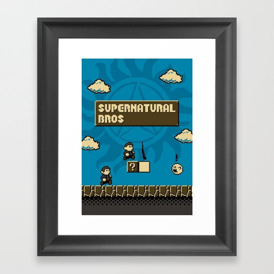 Supernatural Bros. Framed Art Print