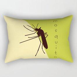 Biting mosquito print Rectangular Pillow