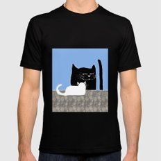 Frisky the Cat Black MEDIUM Mens Fitted Tee
