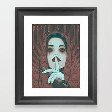 Peace is a Lie Framed Art Print