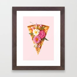 FLORAL PIZZA Framed Art Print