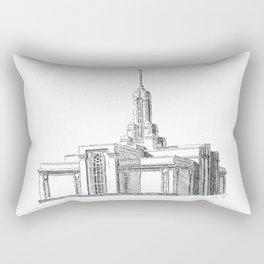 Mount Timpanogos LDS Temple Rectangular Pillow